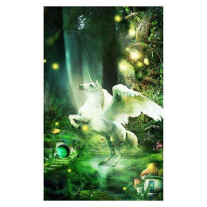 Full Drill - 5D DIY Diamond Painting Kits Colorful Dream White Unicorn - NEEDLEWORK KITS