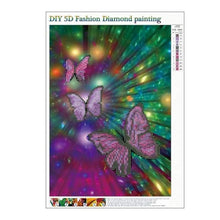 Load image into Gallery viewer, Full Drill - 5D DIY Diamond Painting Kits Colorful Dream Shine Butterfly - NEEDLEWORK KITS