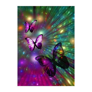 Full Drill - 5D DIY Diamond Painting Kits Colorful Dream Shine Butterfly - NEEDLEWORK KITS