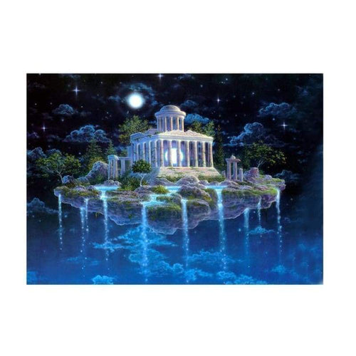 Full Drill - 5D DIY Diamond Painting Kits Fantasy Mystical Castle Island - NEEDLEWORK KITS