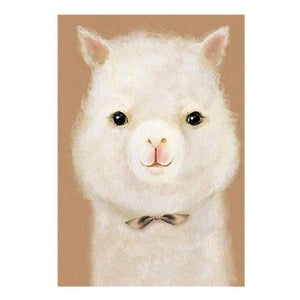 5D DIY Diamond Painting Kits Cartoon Farm Animal Alpaca - 4