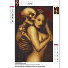 Load image into Gallery viewer, Full Drill - 5D DIY Diamond Painting Kits Special Skull and Sexy Woman - NEEDLEWORK KITS