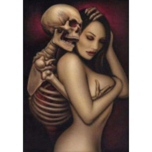 Full Drill - 5D DIY Diamond Painting Kits Special Skull and Sexy Woman - NEEDLEWORK KITS