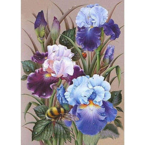 5D DIY Diamond Painting Kits Cartoon Simple Flowers - 3