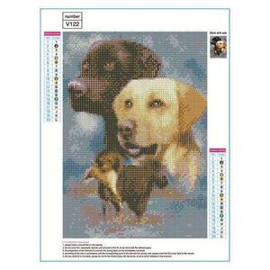 5D DIY Diamond Painting Kits Cartoon Pet Dogs - 3