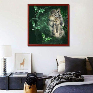 5D DIY Diamond Painting Kits Cartoon Family Wolf