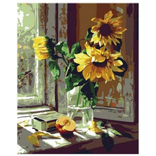 Load image into Gallery viewer, Full Drill - 5D DIY Diamond Painting Kits Sunshine Yellow Sunflower in Glass - NEEDLEWORK KITS
