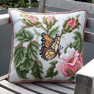 Butterfly (Grey) - Tapestry And Needlepoint