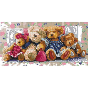 5D DIY Diamond Painting Kits Cartoon Teddy Bear Family - Z9
