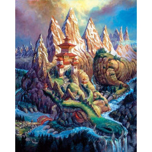 5D DIY Diamond Painting Kits Cartoon Fantasy Mountain - Z3