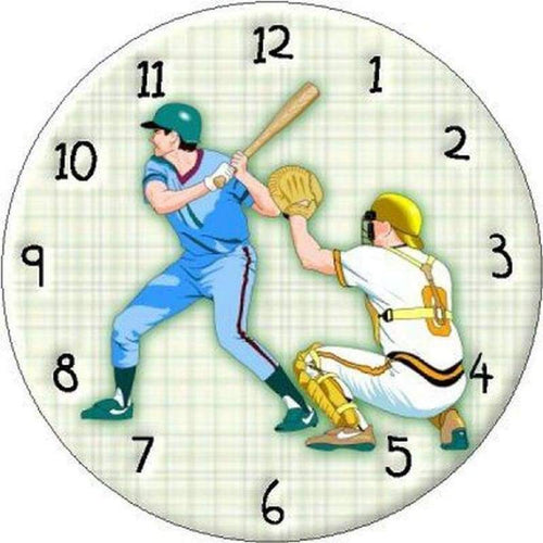 5D DIY Diamond Painting Kits Cartoon Baseball Clock
