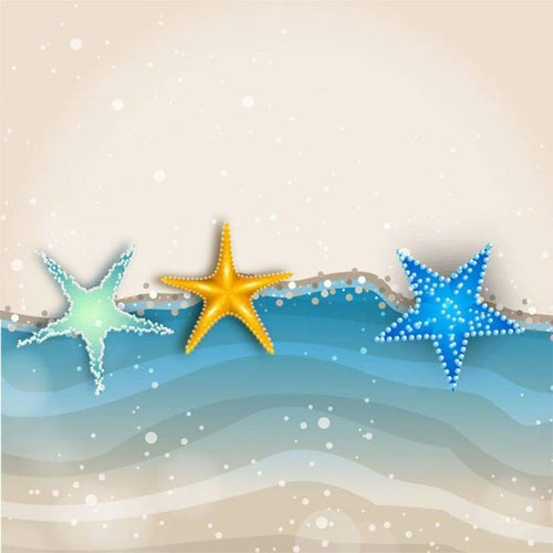 5D DIY Diamond Painting Kits Cartoon Artistic Beach Starfish