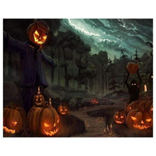 Load image into Gallery viewer, 5D DIY Diamond Painting Kits Cartoon Halloween Pumpkin Road - 3