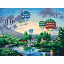 Load image into Gallery viewer, 5D DIY Diamond Painting Kits Cartoon Landscape Hot Air Balloon - 3