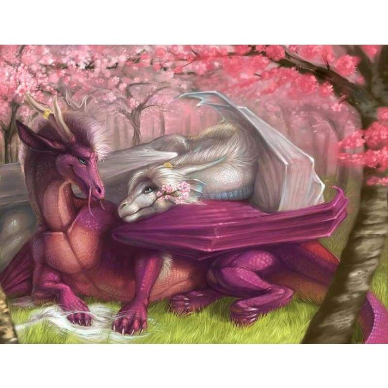 5D DIY Diamond Painting Kits Cartoon Loving Dragon - Z2