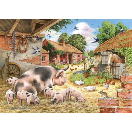 5D DIY Diamond Painting Kits Cartoon Pig Family Farm - 4