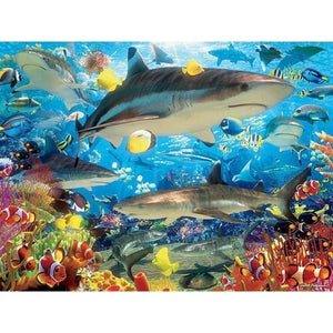 5D DIY Diamond Painting Kits Sharks in the Sea - 3