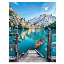 Load image into Gallery viewer, 5D DIY Diamond Painting Kits Nature Landscape Boat - 3