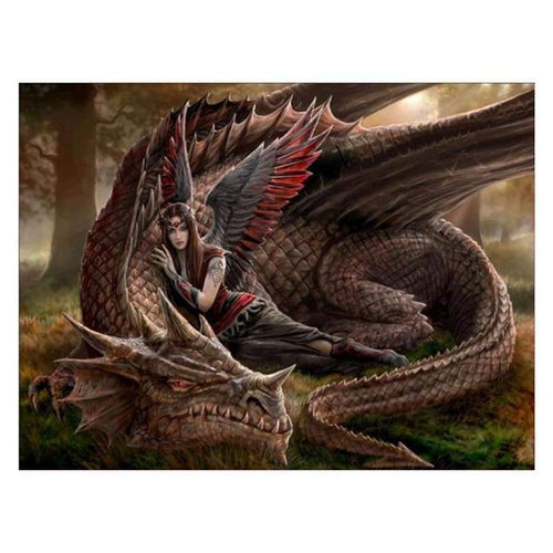 5D DIY Diamond Painting Kits Warm Beauty And The Dragon - 4