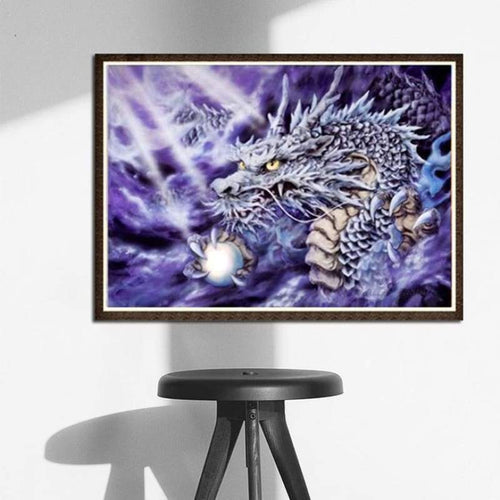 5D DIY Diamond Painting Kits Fantastic East Dragon - 3