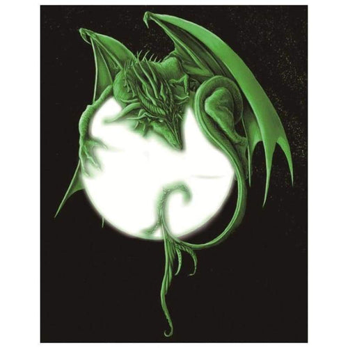 5D DIY Diamond Painting Kits Fantasy Green Dragon Baby - 3