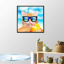Load image into Gallery viewer, 5D DIY Diamond Painting Kits Cartoon Funny Cute Cat
