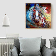 Load image into Gallery viewer, Full Drill - 5D DIY Diamond Painting Kits Colorful Horse Indian - NEEDLEWORK KITS