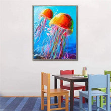 Load image into Gallery viewer, Full Drill - 5D DIY Diamond Painting Kits Colorful Jellyfish - NEEDLEWORK KITS