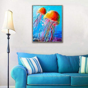 Full Drill - 5D DIY Diamond Painting Kits Colorful Jellyfish - NEEDLEWORK KITS
