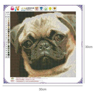 Full Drill - 5D DIY Diamond Painting Kits Cute Pet Dog - NEEDLEWORK KITS