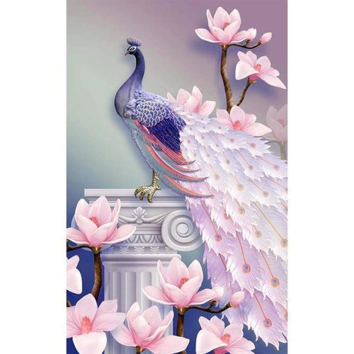 5D DIY Diamond Painting Kits Artistic Pink Peacock - 5