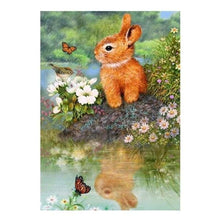 Load image into Gallery viewer, Full Drill - 5D DIY Diamond Painting Kits Cute Rabbit - NEEDLEWORK KITS