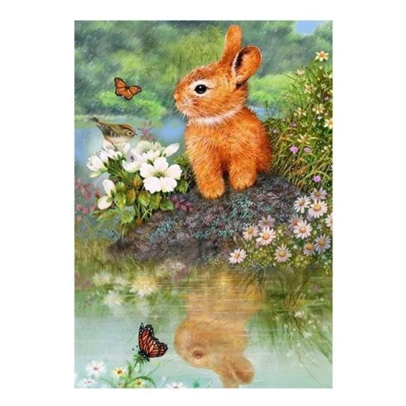 Full Drill - 5D DIY Diamond Painting Kits Cute Rabbit - NEEDLEWORK KITS