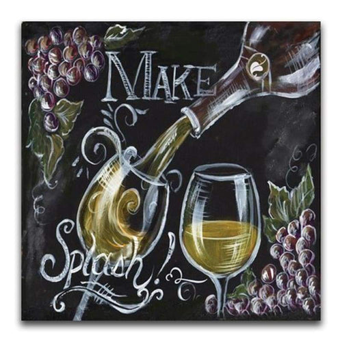 5D DIY Diamond Painting Kits Blackboard Wine Glass