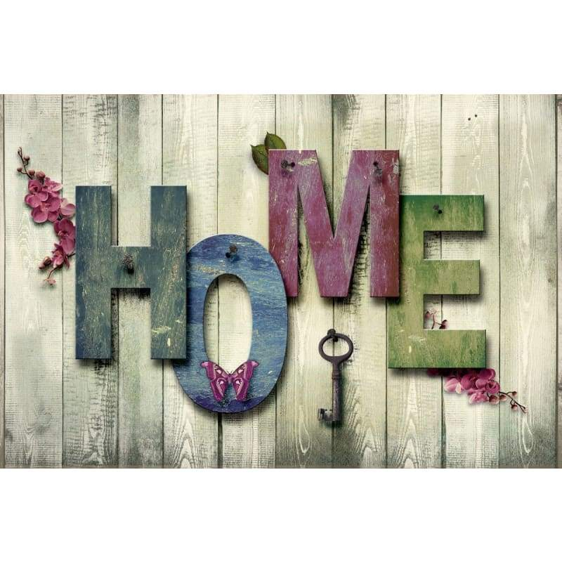 Full Drill - 5D DIY Diamond Painting Kits Sweet Home Letter - NEEDLEWORK KITS