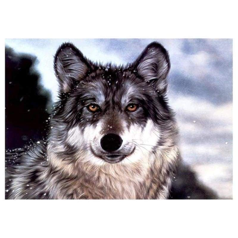 Full Drill - 5D DIY Diamond Painting Kits Winter Cool Wolf - NEEDLEWORK KITS