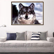 Load image into Gallery viewer, Full Drill - 5D DIY Diamond Painting Kits Winter Cool Wolf - NEEDLEWORK KITS