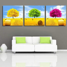 Load image into Gallery viewer, Full Drill - 5D DIY Diamond Painting Kits Colorful Dream Tree 3pcs - NEEDLEWORK KITS