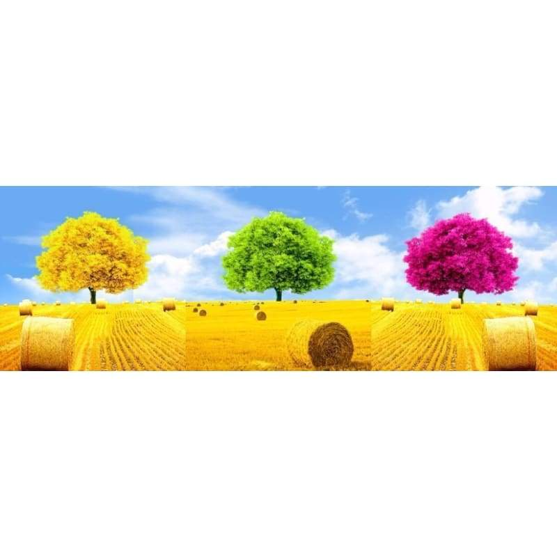 Full Drill - 5D DIY Diamond Painting Kits Colorful Dream Tree 3pcs - NEEDLEWORK KITS