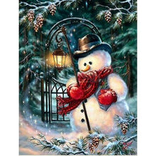 Load image into Gallery viewer, Full Drill - 5D DIY Diamond Painting Kits Winter Cartoon Cute Snowman - NEEDLEWORK KITS