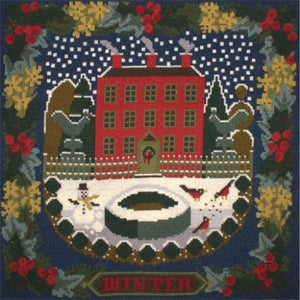 Winter Sampler (Dark Blue Background) - Tapestry And Needlepoint