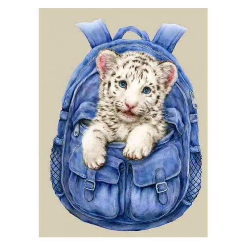 Full Drill - 5D DIY Diamond Painting Kits Cute Tiger In Bag - NEEDLEWORK KITS