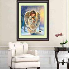 Load image into Gallery viewer, 5D DIY Diamond Painting Kits Cartoon Cute Canvas Angel Cat - 3
