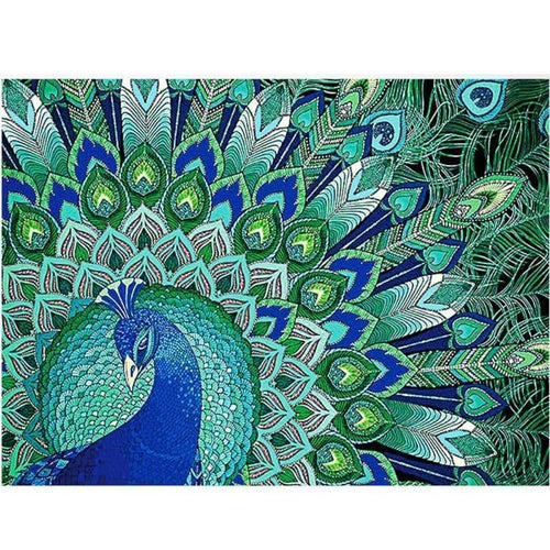 5D DIY Diamond Painting Kits Cartoon Special Colorful Peacock - 3