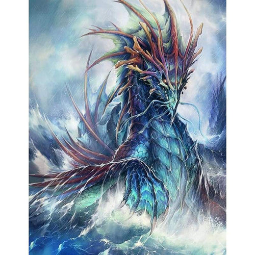 5D DIY Diamond Painting Kits Magic Cool Dragon On The Sea - Z3