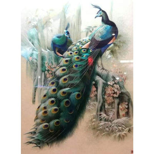 5D DIY Diamond Painting Kits Cartoon Dream Two Peacocks - Z5