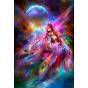 Full Drill - 5D DIY Diamond Painting Kits Dream Goddess Starry Sky Colorful Fairy - NEEDLEWORK KITS