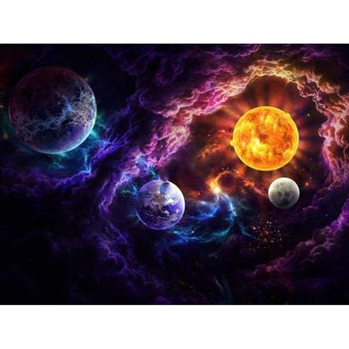 Full Drill - 5D DIY Diamond Painting Kits Fantastic Mysterious Universe Space - NEEDLEWORK KITS
