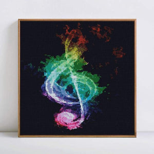 Full Drill - 5D DIY Diamond Painting Kits Dream Colored Music Note - NEEDLEWORK KITS