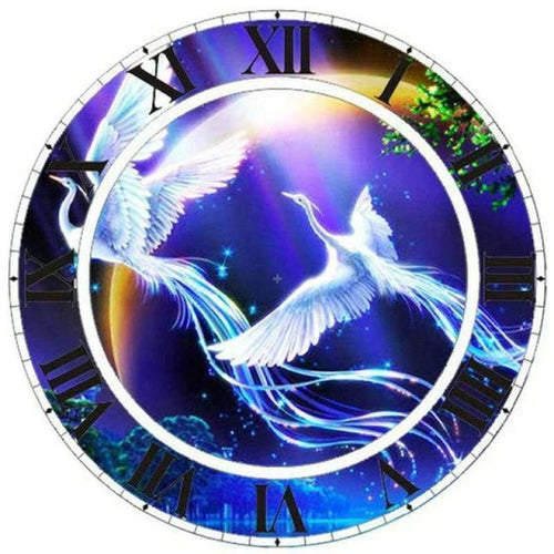 5D DIY Diamond Painting Kits Fantastic Dream Phoenix Clock